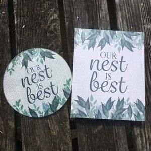 ❗️3 for $25❗️ Our Nest is Best-Decor